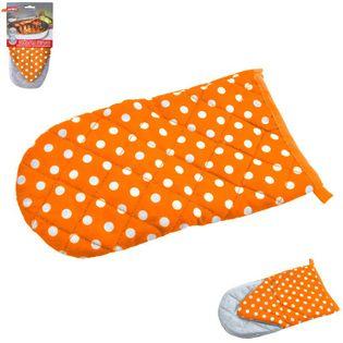 Rękawica kuchenna teflonowa Z MAGNESEM pomarańcz
