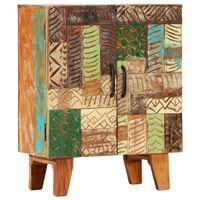 Ręcznie rzeźbiona szafka, 60x30x75 cm, lite drewno odzyskane