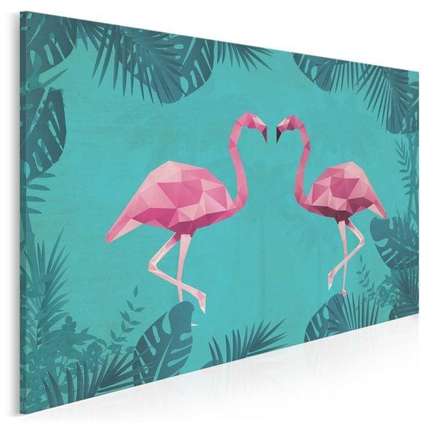 36901 Obraz Na Płótnie Flamingi Turkus Różowy Arenapl