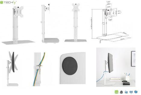 """Uchwyt biurkowy LCD/LED Techly ICA-LCD 260 17-27"""" pionowy, biały"""