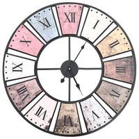 Lumarko Zegar ścienny vintage z mechanizmem kwarcowym, 60 cm, XXL
