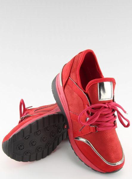 Buty sportowe damskie czerwone BL141P RED 36