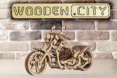 Motocykl Mechaniczne Puzzle 3D Drewniane Wooden City zdjęcie 15