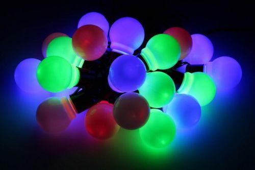 Lampki ogrodowe 20 LED, żarówki kolorowe na Arena.pl