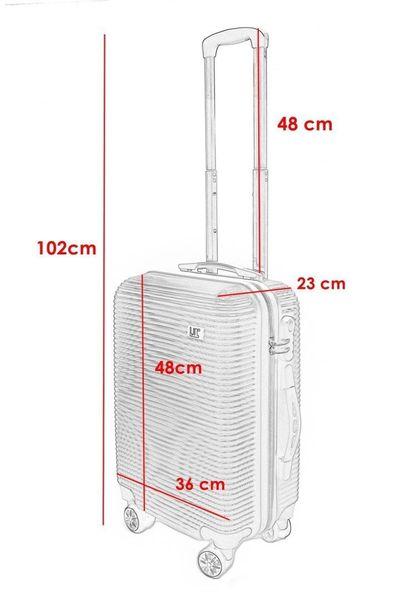 WALIZKA walizki kółka torba samolot ZESTAW M + L SIWA 1057+1058 zdjęcie 5
