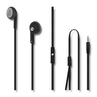 Qoltec Słuchawki douszne z mikrofonem | Czarne