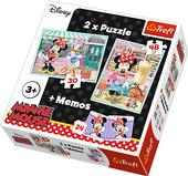 TREFL Puzzle 2w1 + memo Myszka Minnie, Hobby Minnie (90605)