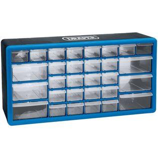Lumarko Organizer na narzędzia z 30 szufladami, niebieski, 12015