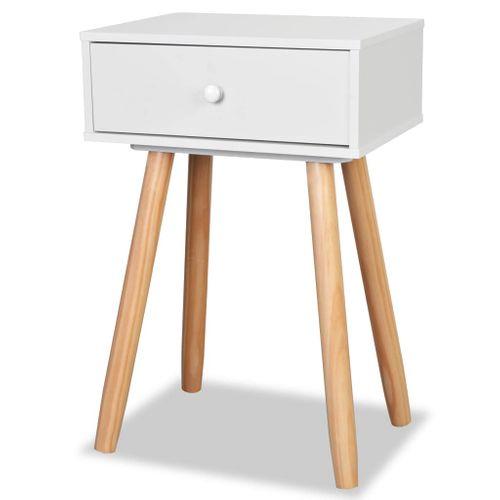 Szafki nocne, 2 szt., drewno sosnowe, 40 x 30 x 61 cm, białe na Arena.pl