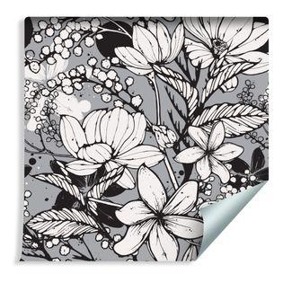 Tapeta w Rolce Piękne Wiosenne Kwiaty Liście Przyroda