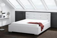 Łóżko TURYN do sypialni Rozmiary - 140x200, Kolorystyka łóżka - Sawana 31, Pojemnik na pościel - z pojemnikiem na pościel