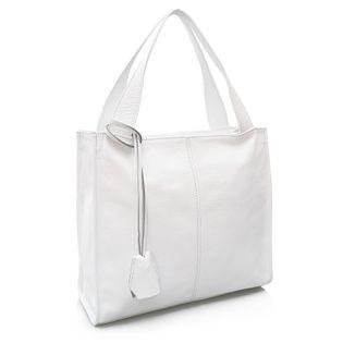 TOREBKA skórzana shopper klasyczna na ramię V074 L biała