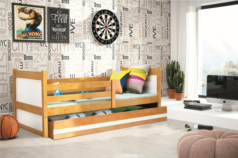 Łóżko RICO dla dzieci pojedyncze dla jednej osoby 190x80 + MATERAC zdjęcie 3