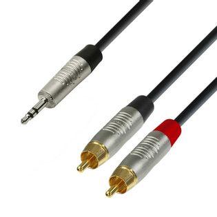 K4 YWCC 0150, Kabel audio REAN jack stereo 3,5 mm – 2 x cinch męskie, 1,5m