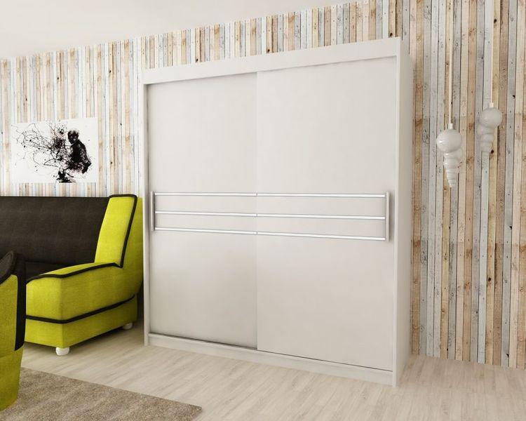 Szafa przesuwna garderoba PASA 200 biała RIBES zdjęcie 2