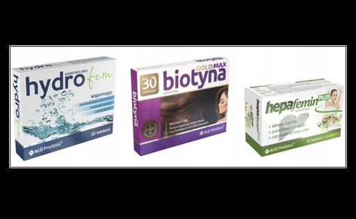 Hydrofem Biotyna 5mg Hepafemin trawienie celulit