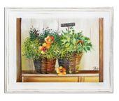 Obraz 37x47cm WIKLINOWE KOSZE ręcznie malowany zdjęcie 1