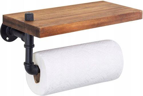 Uchwyt wieszak na ręczniki papierowe z półką loft na Arena.pl