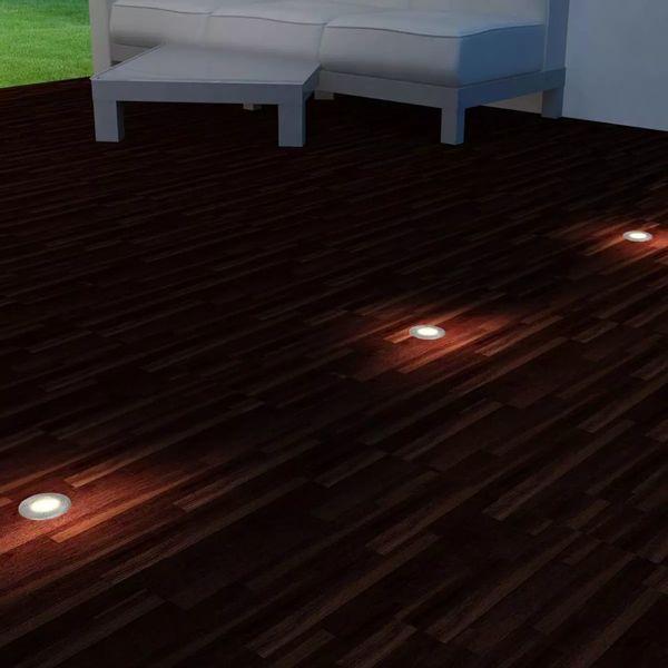 LAMPA LAMPY LAMPKI LED NAJAZDOWE DO PODŁOŻA 3 SZTUKI OKRĄGŁE zdjęcie 2