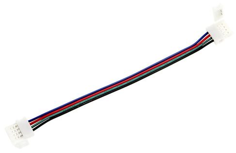 Konektor do taśm LED 10mm z przewodem (RGB, 4 pin)