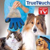 Rękawica do czesania masażu dla psa kota szczotka TrueTouch