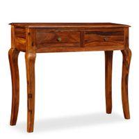 Stolik typu konsola z litego drewna sheesham, 90 x 32 x 76 cm