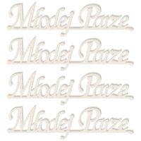 TEKTURKA napis scrapki Młodej Parze 92x24 mm, 4szt