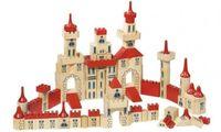 GOKI Duży drewniany zamek - 150 części