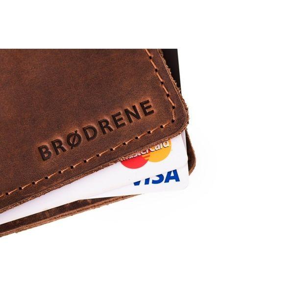 77ed4396f1313 Jasno brązowy cienki portfel slim wallet Brodrene • Arena.pl