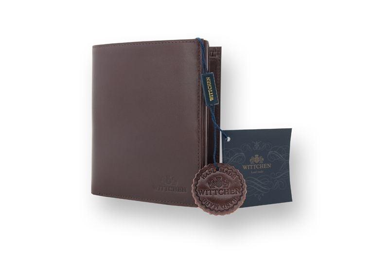 Duży, brązowy, skórzany portfel Wittchen, RFID, kolekcja: Italy zdjęcie 2