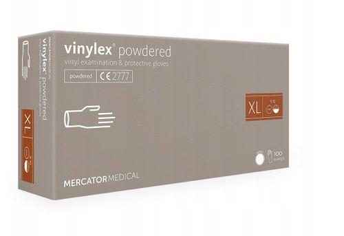 Rękawice winylowe vinylex powdered XL karton 10 x 100 szt na Arena.pl