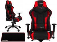 Fotel gamingowy KUBEŁKOWY PRO-GAMER MAVERIC Czerwony + podkładka