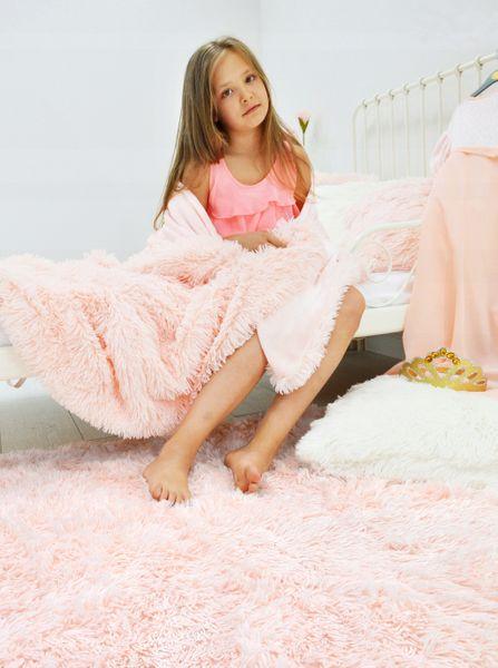 Dywan Puchaty Włochacz MEGAN 120x160cm Różowy zdjęcie 1