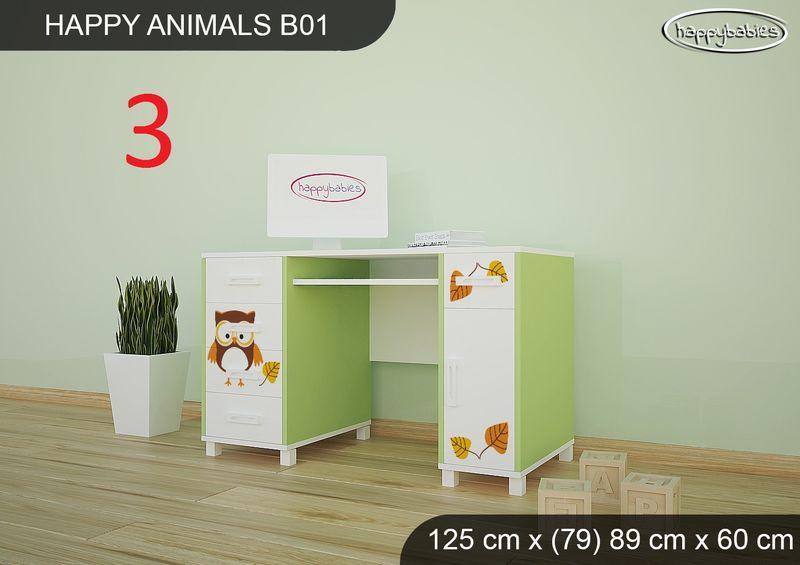 BIURKO DZIECIĘCE  HAPPY ANIMALS B01 AM01 Zielone zdjęcie 16