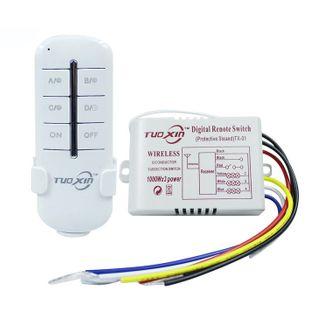 Włącznik Radiowy 230V Zdalne Sterowanie 3x1000W