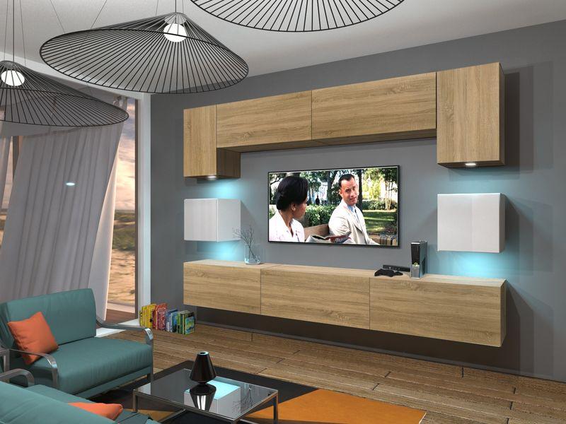 Zestaw salon meblościanka NOWARA N1 połysk 1B na Arena.pl
