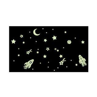 Naklejka na ścianę ścienne świecące niebo rakieta  gwiazdy WS-0151