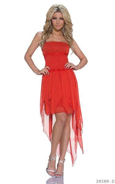 Czerwona Asymetryczna Sukienka Balowa Wesele Xss 20500 2 Arenapl