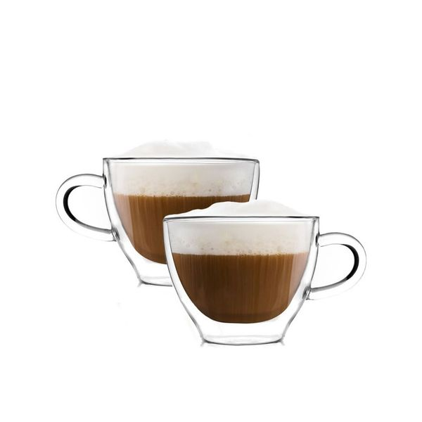 Szklanki termiczne z Podwójną Ścianką Kawy Vialli Cappucino 300ml 2szt zdjęcie 1