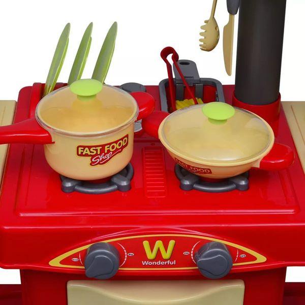 Kuchnia Dla Dzieci Duża Czerwona zdjęcie 4