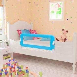 Barierki do łóżeczka dziecięcego 2 szt. niebieskie 102x42cm VidaXL