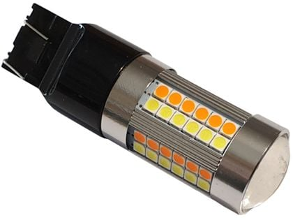 żarówka 69 LED w21/5w T20 dwu kolorowa dual color 12v  USA RS
