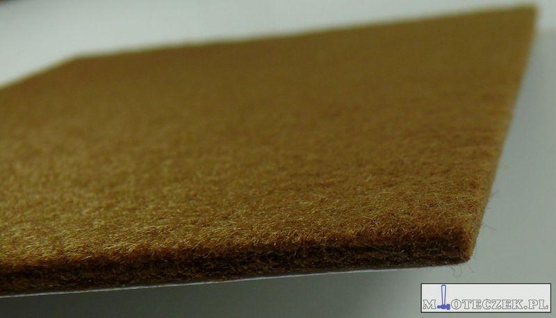 Arkusz filcu podkładki pod meble 200x150mm brąz zdjęcie 3