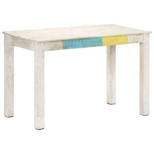 Lumarko Stół jadalniany, biały, 120x60x76 cm, lite drewno mango