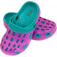 Klapki basenowe dla dzieci Aqua-speed Silvi kol 09 fioletowo niebieskie 24