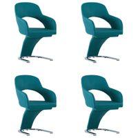 Krzesła stołowe 4 szt. niebieskie sztuczna skóra VidaXL