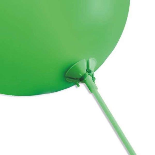 Patyczki do balonów ZIELONE z koszyczkami 10 szt zdjęcie 2