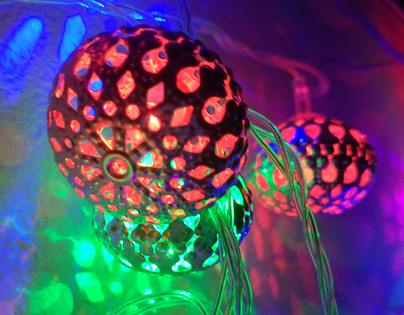 Metalowe lampki choinkowe 20 lampek, 3 metry