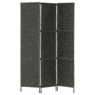 3-Panelowy Parawan Pokojowy, Czarny 116 X 160 Cm, Hiacynt Wodny