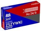 Zszywki biurowe GRAND 369 No 24/6 stalowe 1000 szt